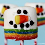 (20 crafty days of christmas) marshmallow snowman pops
