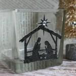 (20 crafty days of christmas) nativity candle holder