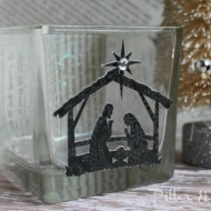 (20 crafty days of christmas) nativity candle holder