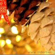 (20 crafty days of christmas) paint dipped pine cones