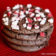 (20 crafty days of christmas) peppermint chocolate cake cookies