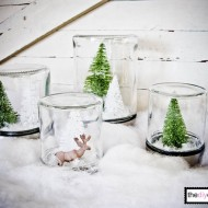 (20 crafty days of christmas) diy snow globes