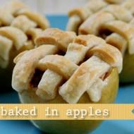(recipe) apple pie baked in apples