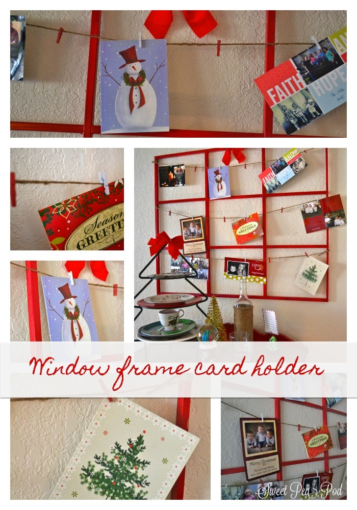 20 crafty days of christmas) window frame holiday card holder - See ...