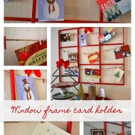 (20 crafty days of christmas) window frame holiday card holder