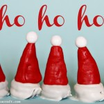 (20 crafty days of christmas) nutella & oreo santa hats