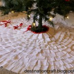 (20 crafty days of christmas) pleated tree skirt