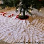 (20 crafty days of christmas) pleated tree skirt
