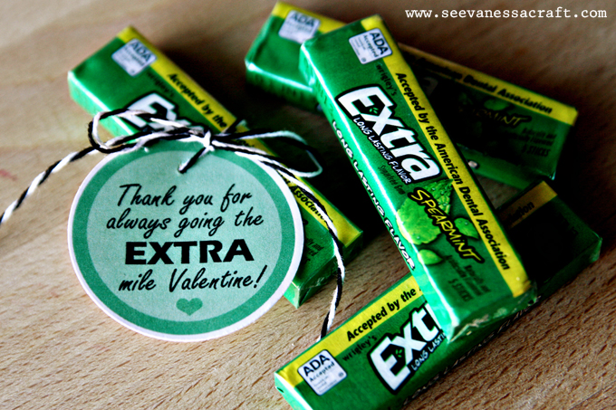 graphic relating to Extra Gum Teacher Appreciation Printable identified as printable) far more gum valentine - Check out Vanessa Craft