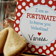 Printable: Fortune Cookie Valentine Tags