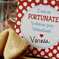 Printable: Fortune Cookie Valentine Tags