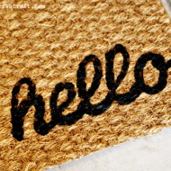 (diy tutorial) hello welcome mat + decoart giveaway