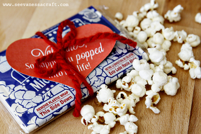 photograph relating to Popcorn Valentine Printable called printable) valentines working day popcorn - Check out Vanessa Craft