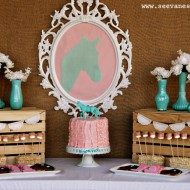 (party) leah & kinley's pink & aqua cowgirl shindig