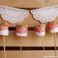 (diy tutorial) pink s'more marshmallow pops