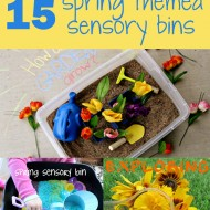 (tot school tuesday) spring sensory bin roundup