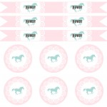 (party) pink & aqua cowgirl printables