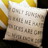 (giveaway) you are my sunshine pillow