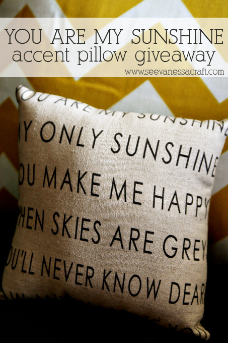 giveaway) you are my sunshine pillow
