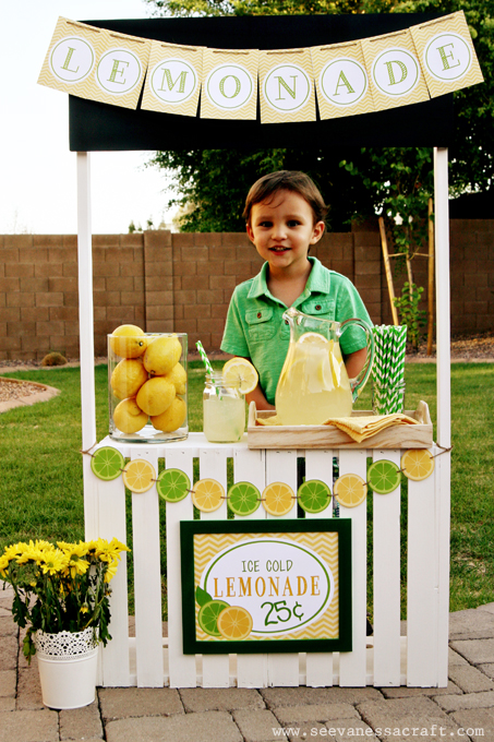diy tutorial crate lemonade stand for kids see vanessa