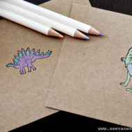 (tot school tuesday) easy dino thank you card kid craft