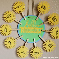 (tot school tuesday) summer bucket list wreath