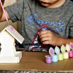 (tot school tuesday) wooden bird feeder craft kit