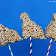 (tot school tuesday) rice cereal dinosaur back to school treats