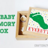 (diy tutorial) diy baby memory box