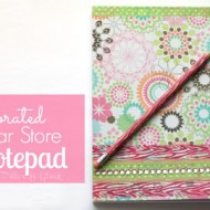 (diy tutorial) decorated dollar store notepad