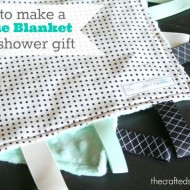 (diy tutorial) taggie blanket baby shower gift