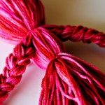 (diy tutorial) homemade yarn doll