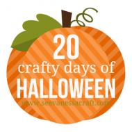 (20 crafty days of halloween) recap 2013
