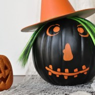 (20 crafty days of halloween) witch pumpkin craft