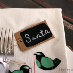 (20 crafty days of christmas) chalkboard place tags
