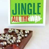 "(20 crafty days of christmas) colorful ""jingle all the way"" print"