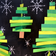 (20 crafty days of christmas) christmas tree mobiles