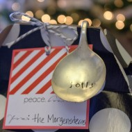 (20 crafty days of christmas) stamped silverware ornament