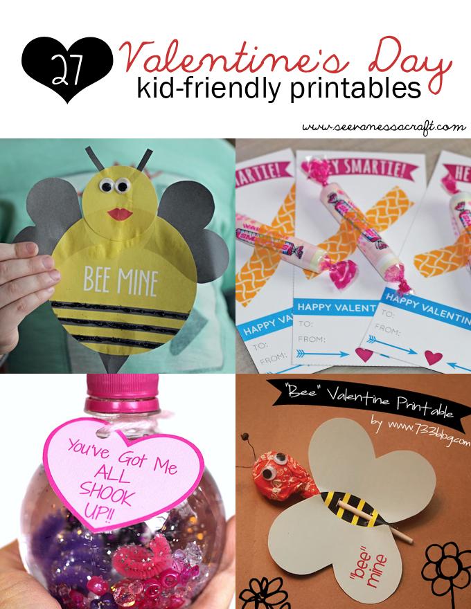 Roundup 27 kid friendly valentine 39 s day printables see for Kid friendly valentine recipes