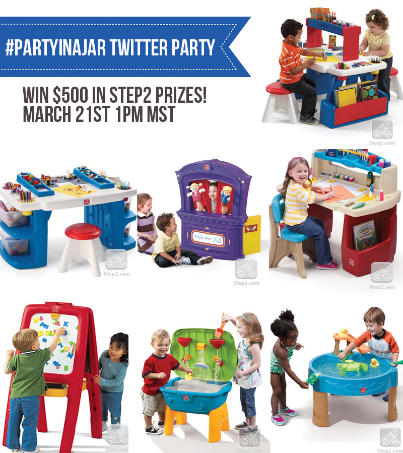 Win 500 In Step2 Prizes At The Partyinajar Twitter Party