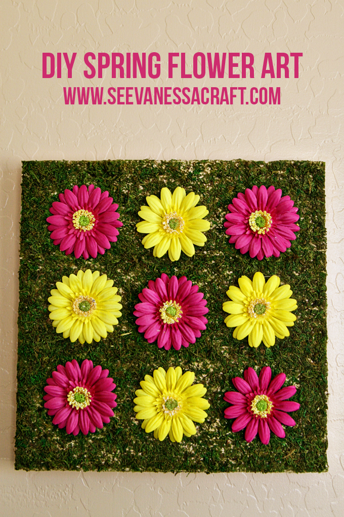 DIY Spring Flower Art @seevanessacraft
