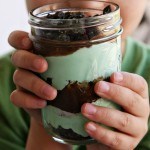 (recipe) mint chocolate pudding parfait