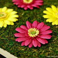 (craft tutorial) diy spring flower art