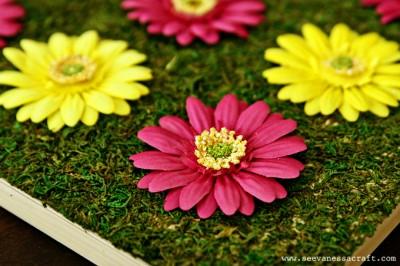 DIY Spring Flower Art @seevanessacraft