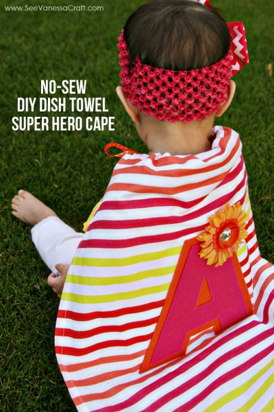 DIY Girl Super Hero Cape 4web