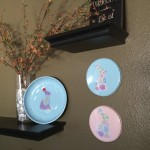 (craft tutorial) easter bunny silhouette decor