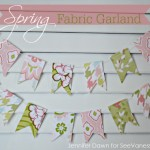 (craft tutorial) spring fabric garland