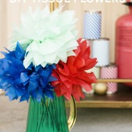 (party hop) summer fiesta tissue flowers and hit the can