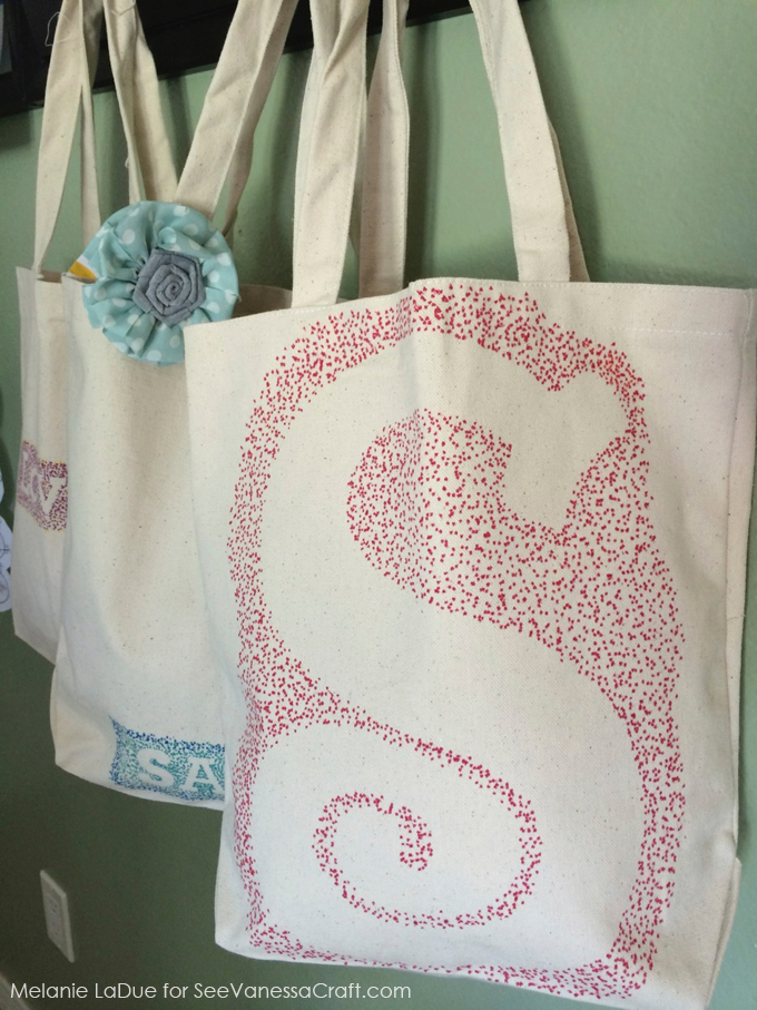 craft tutorial  personalized canvas bags