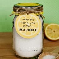 (craft tutorial) lemon bath salts and printable